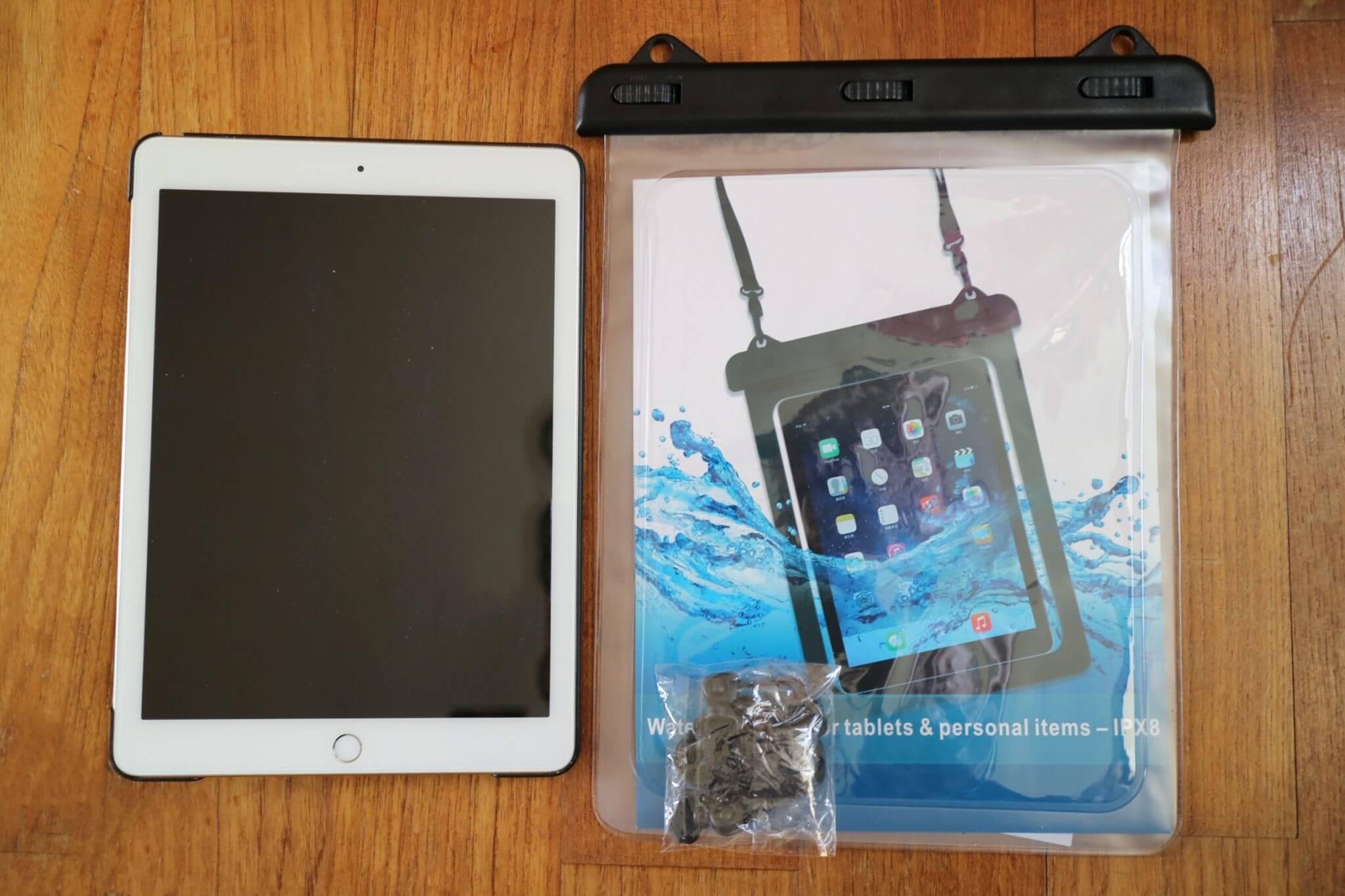 タブレット(7-10inchi)iPad用の防水ケースレビュー
